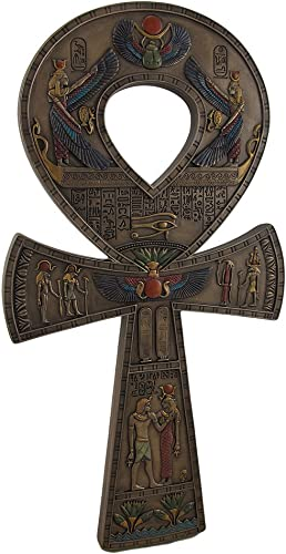 Bronze Finished Ancient Egyptian Ankh Symbol Wall Hanging 15 3/4 Inche