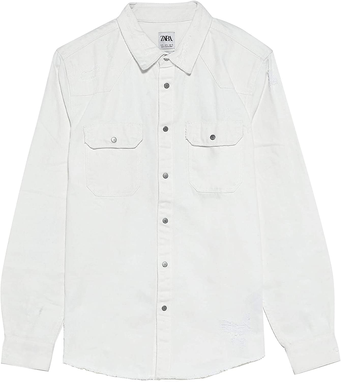 Zara 2631/350 - Camisa Vaquera para Hombre Blanco XL: Amazon ...