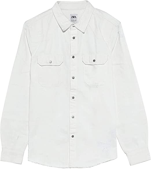 Zara 2631/350 - Camisa Vaquera para Hombre Blanco XL: Amazon.es: Ropa y accesorios