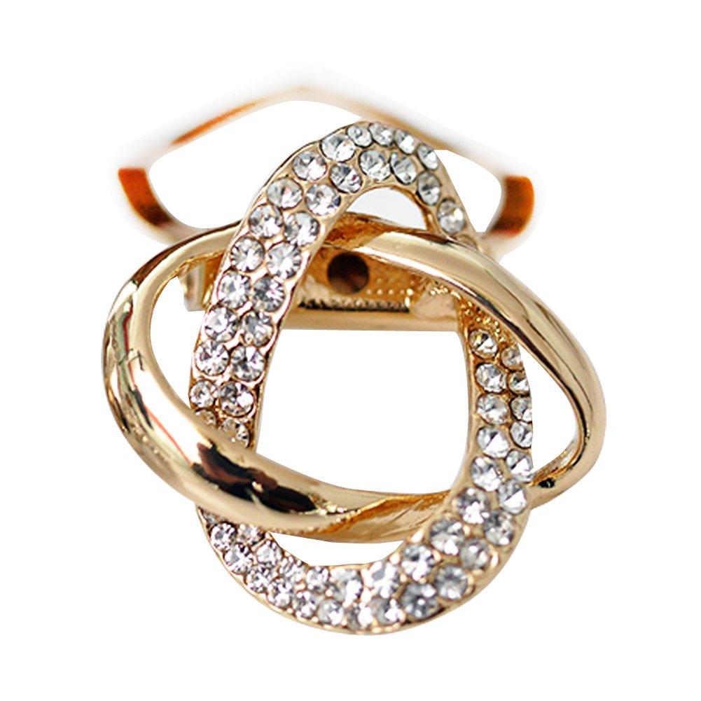 Maikun Round Rhinestone Brooch Scarf Ring Gift for Valentine's Mother's Day DXZ10103