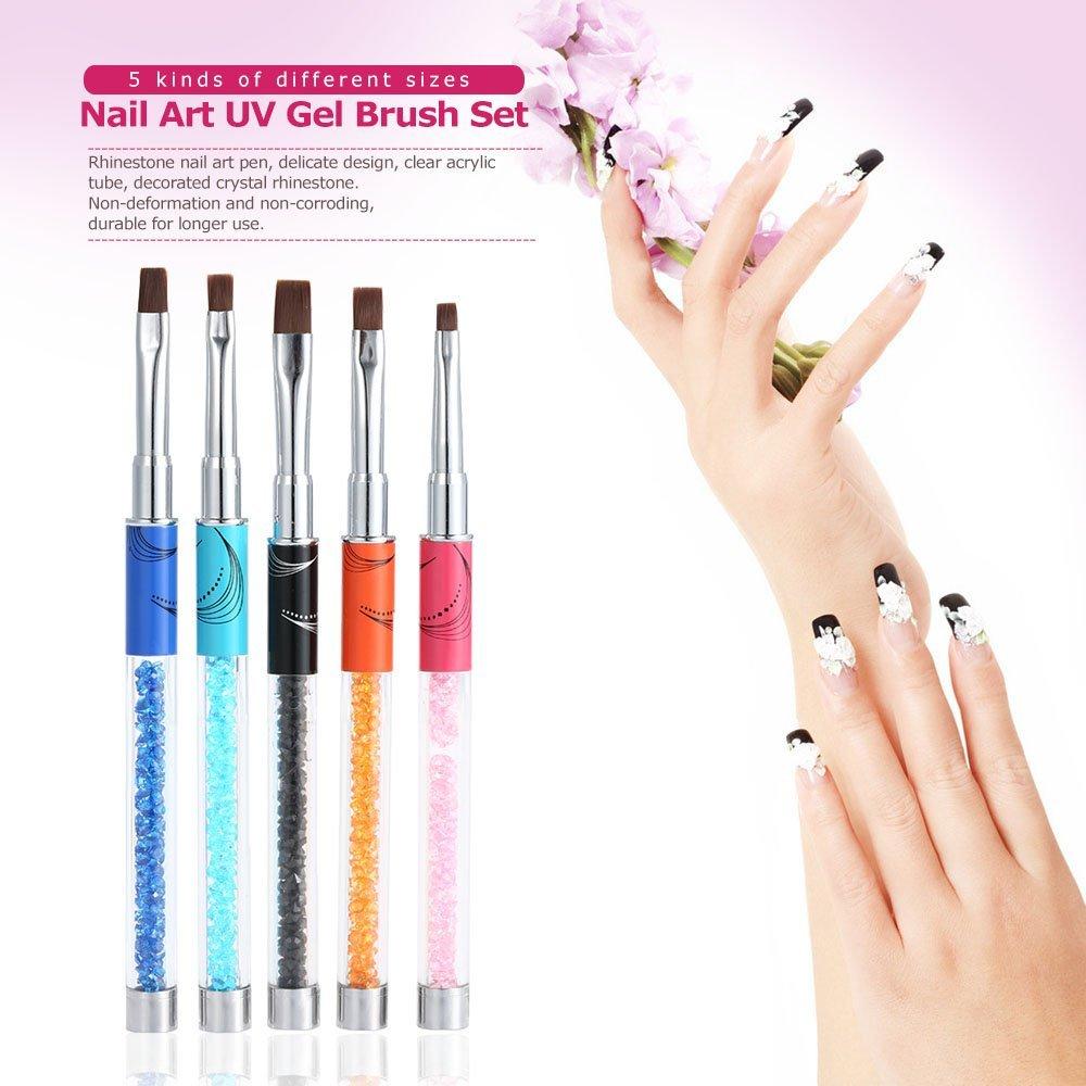 Amazon Anself 5pcs Nail Art Uv Gel Brush Set Nail Art Pen