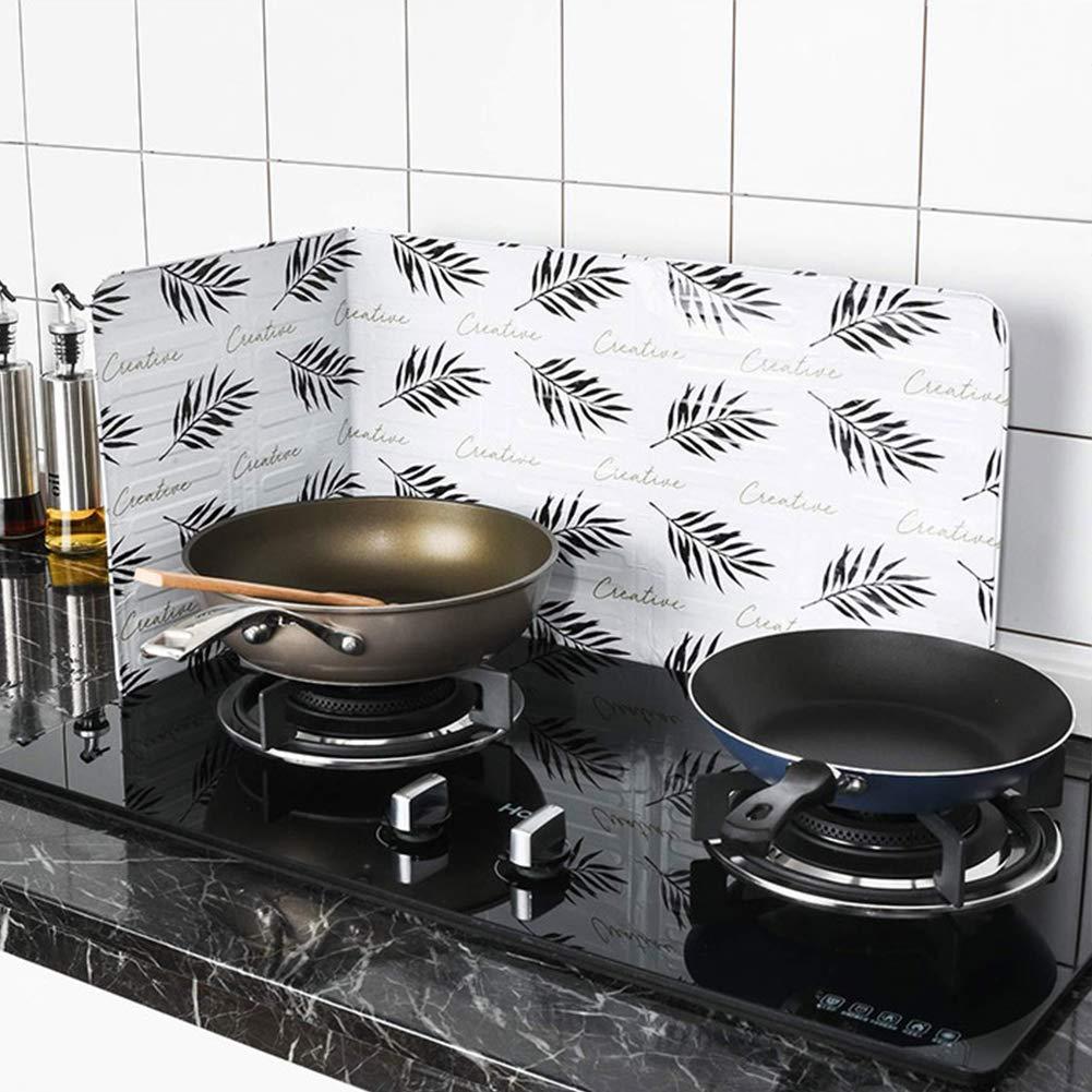 Protector antisalpicaduras, lámina de aluminio para cocina, sartén, aceite, estufa de gas, protege la piel de quemaduras, mantiene la cocina limpia y fácil ...
