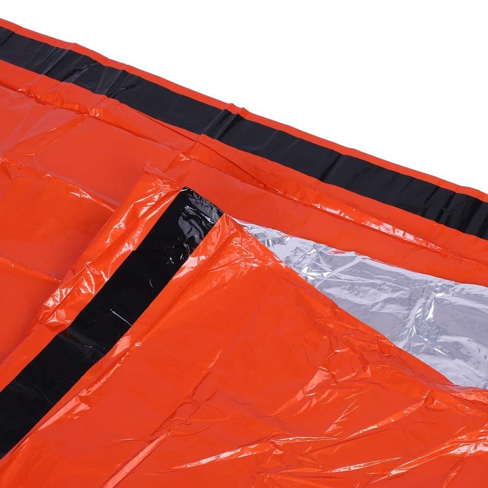 Voyage Dewin Camping Sac de Couchage 1Pcs Thermique Orange imperm/éable Sac de Couchage durgence r/éutilisable pour Le Camping de Survie