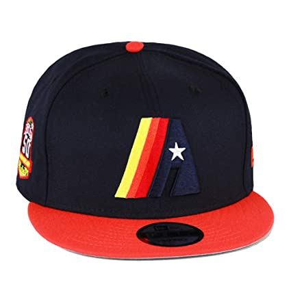 504fd1cbc New Era 9fifty Snapback Hat Cap Houston Astros Navy/Orange/Vintage A Logo