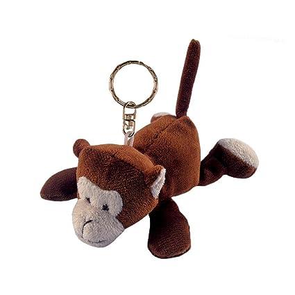 Amazon.com  Puzzled Monkey Plush Keychain  Toys   Games 0bd47ed0aac5