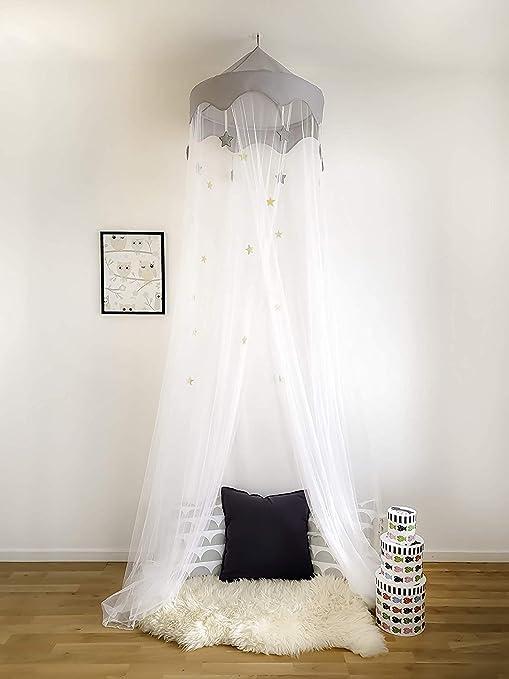 Crown Cot Canopy Mosquitero Grande Se adapta a cama cuna para bebé Diseñado con