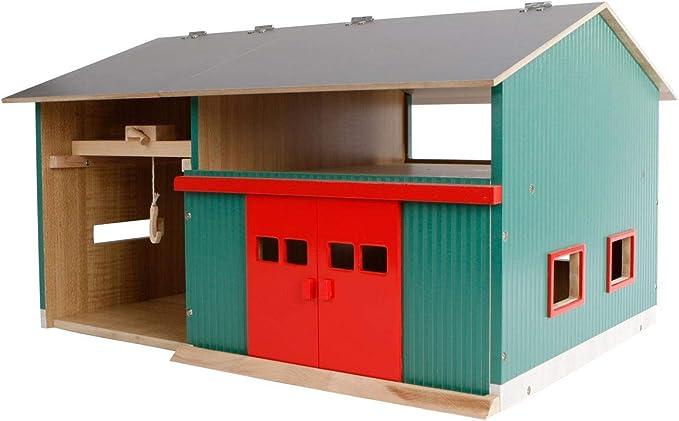 Van Manen Kids Globe Werkstatt Mit Lagerraum Maßstab 1 32 Dach Aufklappbar Tore Beweglich Maße 41x54x32 Cm Ohne Spielfiguren Zubehör 610816 Spielzeug