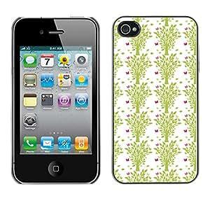 ZECASE Funda Carcasa Tapa Case Cover Para Apple iPhone 4 / 4S No.0003987