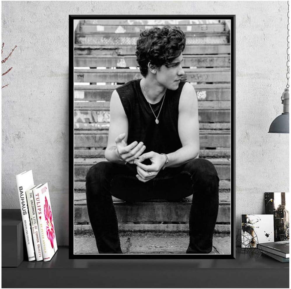 Blanco y negro Shawn Mendes Cantante de música pop Star ...