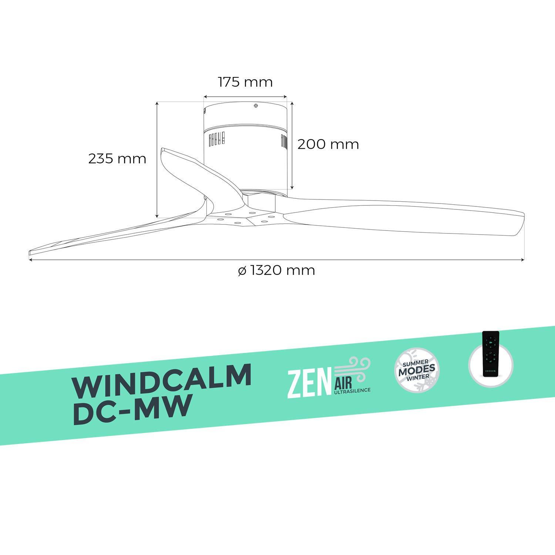 Ventilador Techo Funci/ón Invierno Verano Ultrasilencioso IKOHS WINDCALM DC-MW
