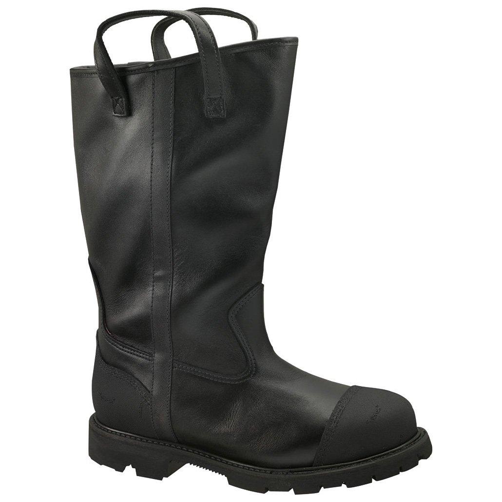 Women's Thorogood 14 inch Structural Firefighting Steel Toe Waterproof Bunker Boots, BLACK, 9W