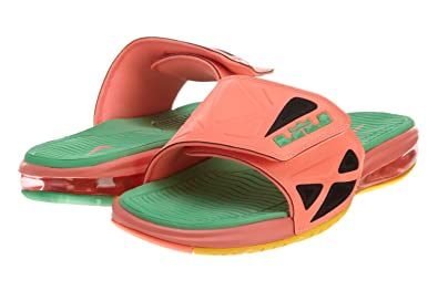 best website df5c7 ad9a3 Image Unavailable. Image not available for. Color  Nike Men s Air Lebron 2  Slide Sandals-Bright ...
