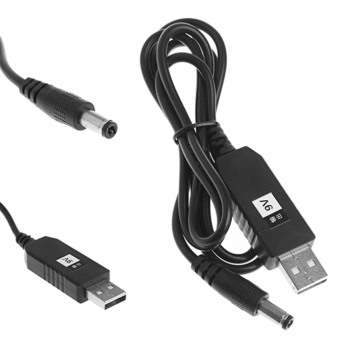 2A Kabel Stecker 6W 1M//3Ft USB Dc 5V auf Dc 9V 12V Step Up 2.1x5.5mm Lager