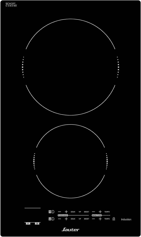 Sauter SPI4230B piano cottura Nero Incasso A induzione