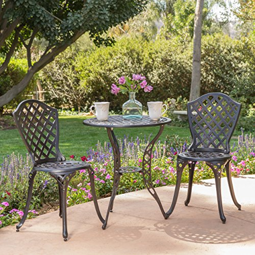 Lyon Black Bronze Metal Outdoor Bistro Set Review