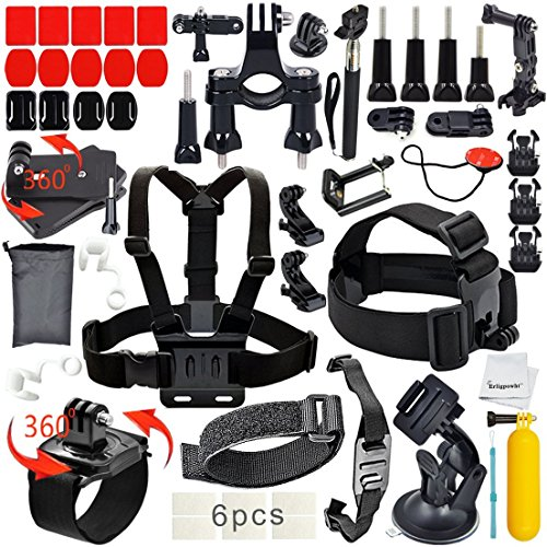 Erligpowht Outdoor Sports Combo Kit 40 accessories for GoPro HERO (Action Camera Chest Mount)
