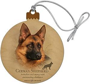 GRAPHICS & MORE German Shepherd Dog Breed Wood Christmas Tree Holiday Ornament