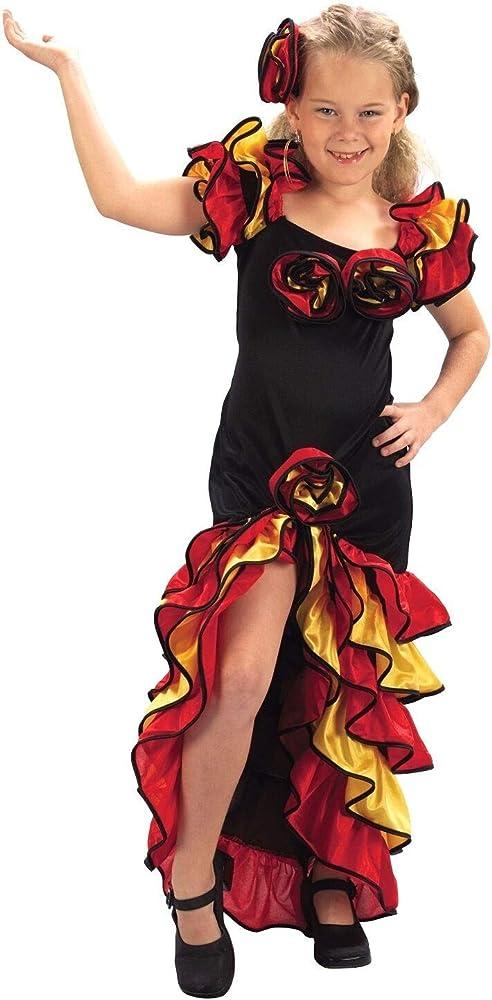 Disfraz de Sevillana o Rumbera. Talla: de 2 a 4 años. Incluye ...