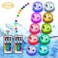 Pool Lights Submerible LED Lights Floating Hot Tub Swimming Pool Accessories Above Ground & Underwater RGB Light Remote Control Button Batteries Powered Holidays Party Decor for Pond