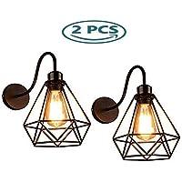 GENGJ-lampe 2 Pack Lámpara De Pared Vintage Industrial