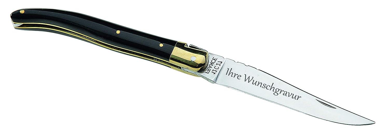 TR Laguiole-Messer, Stahl 12C27, Büffelhorn-Schalen und persönliche Gravur auf der Klinge B07K8RSQVB | Verrückter Preis, Birmingham