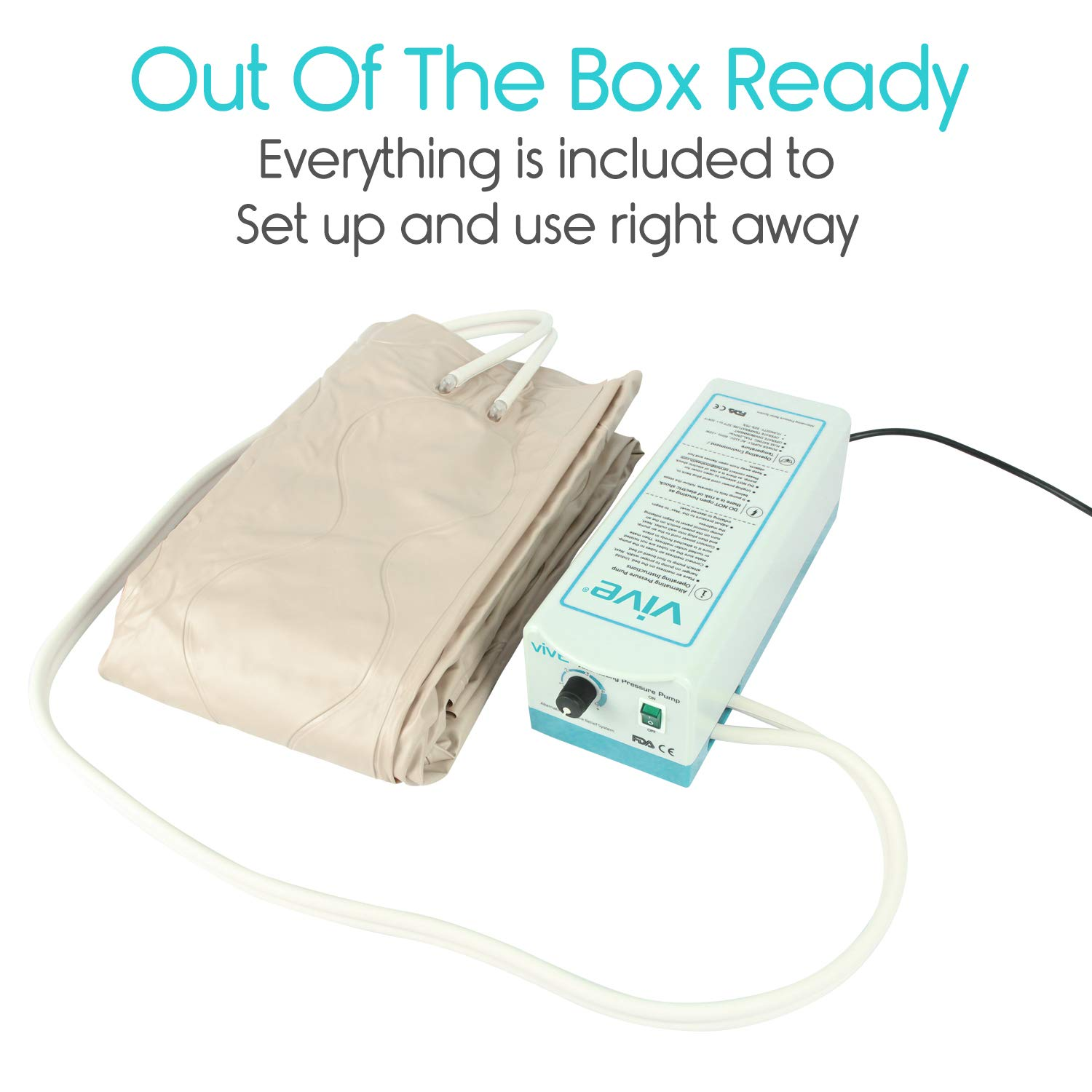 Vive Alternating Pressure Pad - Includes Mattress Pad and ...