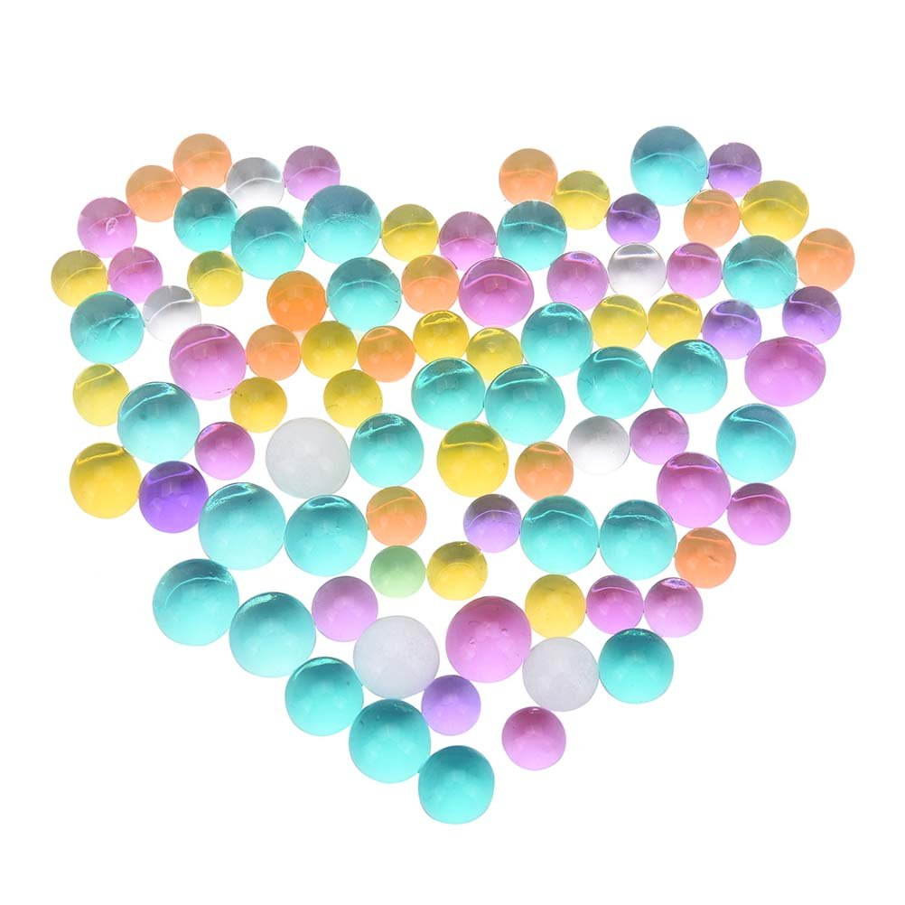 Water Beads, BESTIM INCUK 24 Bags 2400 Pieces Gel Water Beads Jelly Water Pearl for Vase Filler Aqua Plant Wedding Decoration