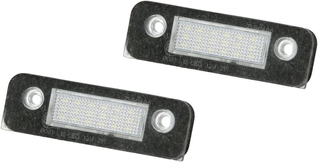Ecd Germany 2 X Led Kennzeichenbeleuchtung Mit E Prüfzeichen 6000k Xenon Weiß Canbus Plug Play Fehlerfrei Led Kennzeichenleuchte Mit Zulassung Nummernschildbeleuchtung Auto
