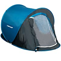 Dunlop Tente pop-up, bleu/gris