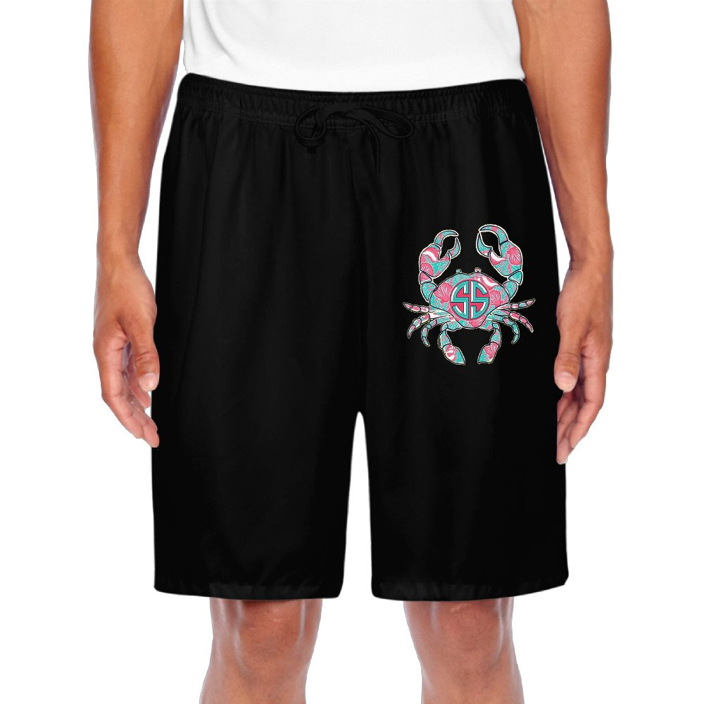 Mens Crab On A Sunrise Comfortable Shorts Sweatpants Casual Shorts For Sporting Home Casual Time