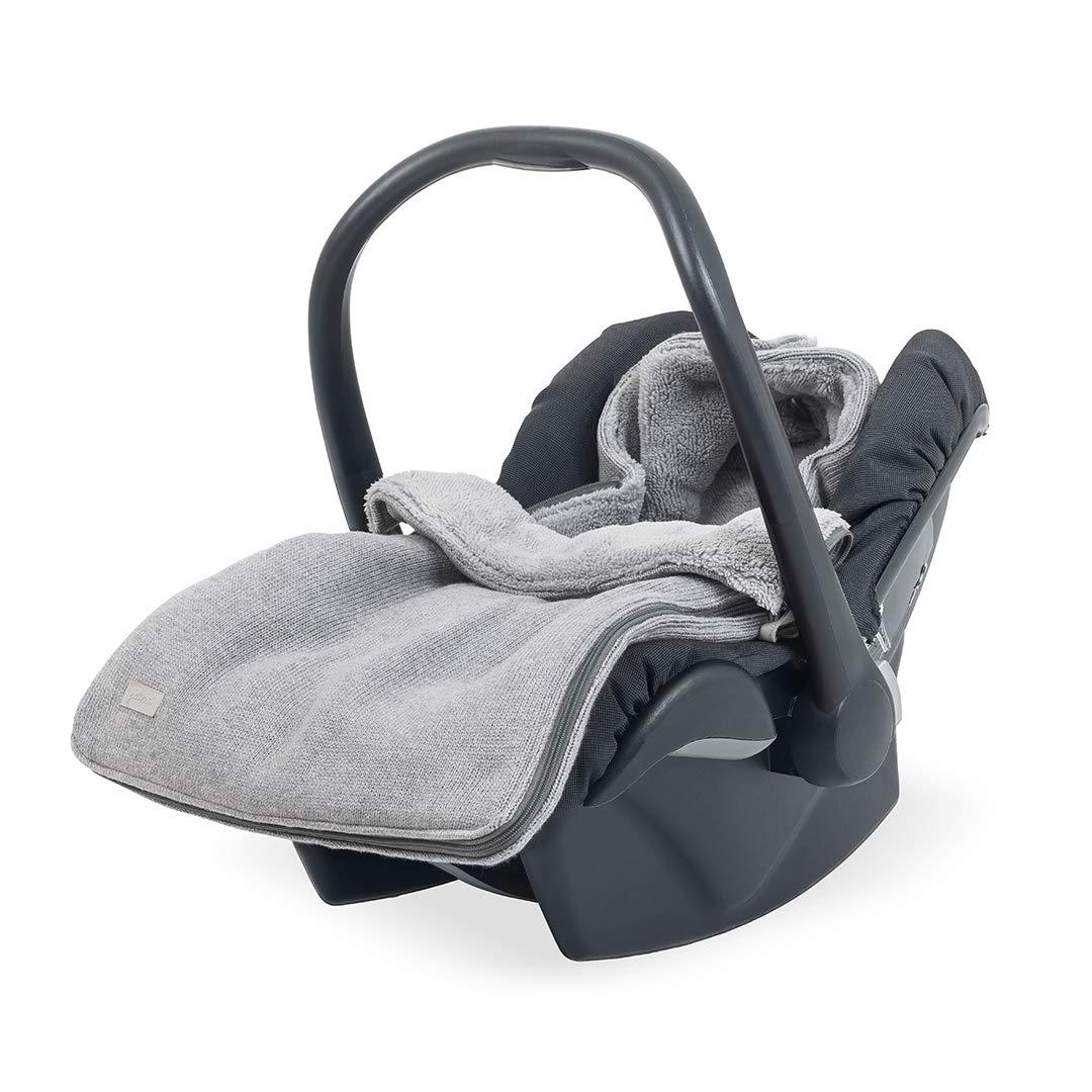 Jollein 025-811-65084 Komfortsack fü r Kindersitz 0 bis 9 Monate 3/5 Punkt-Gurt Natural knit grau Smits Assen Bv