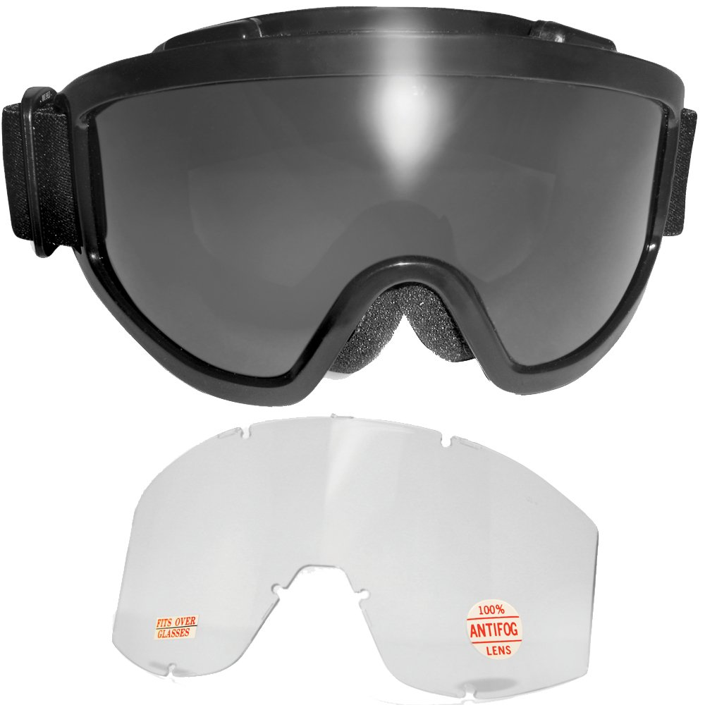 MOTORCYCLE GOGGLES Global Vision WINDSHIELD Clear Lens Biker Rider NEW Auto Parts & Accessories
