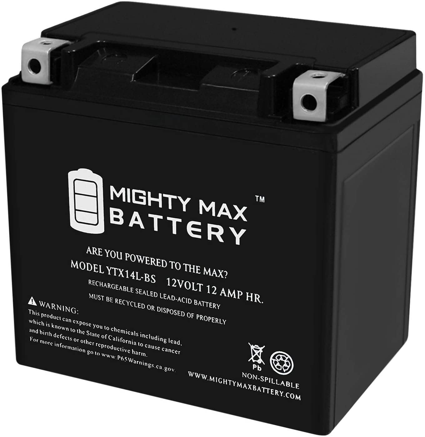 Mighty Max YTX20L-BS GEL Battery for Kawasaki Jet Ski JS550 12V 4Amp Charger