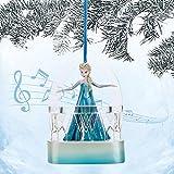 Disney Frozen Elsa Singing Musical Ornament Figure Doll