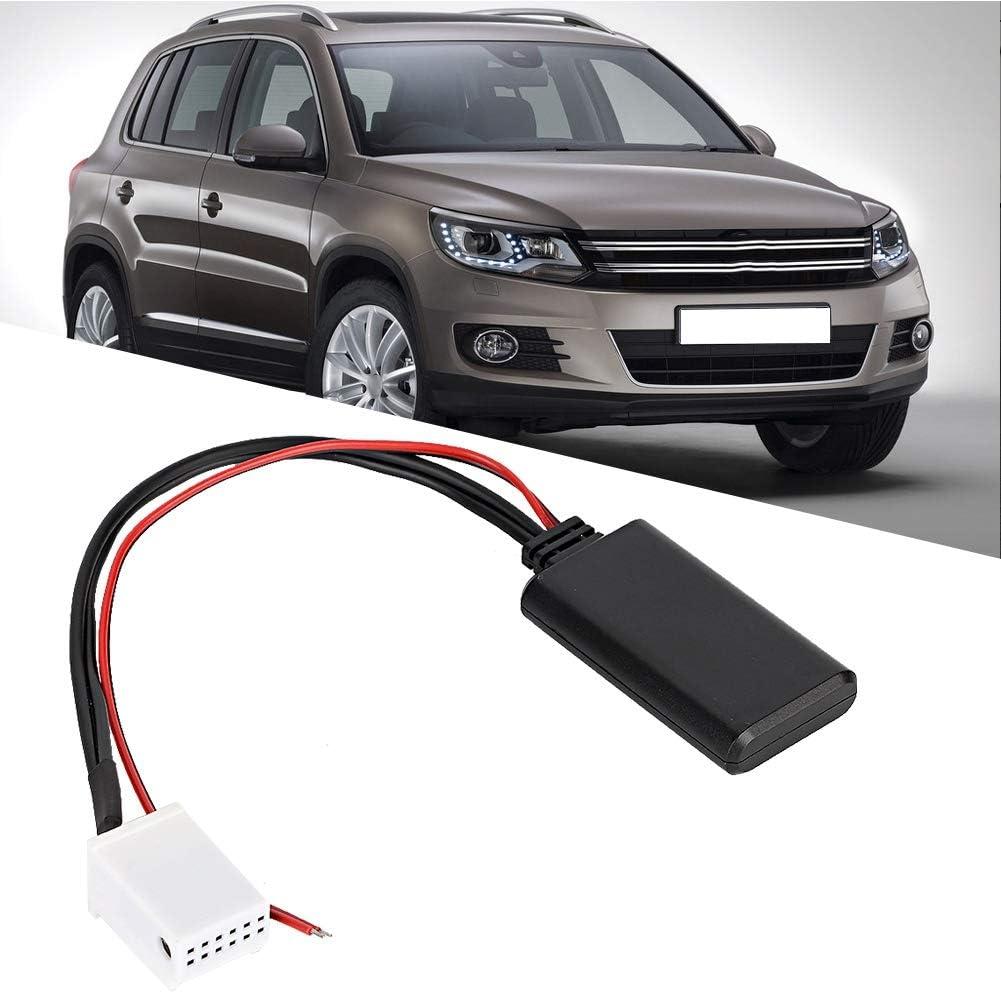 Ladieshow Adattatore modulo Bluetooth Adattatore AUX Bluetooth per Auto 12V 12 Pin Adatto per MCD RNS 510 RCD 200210300310500510