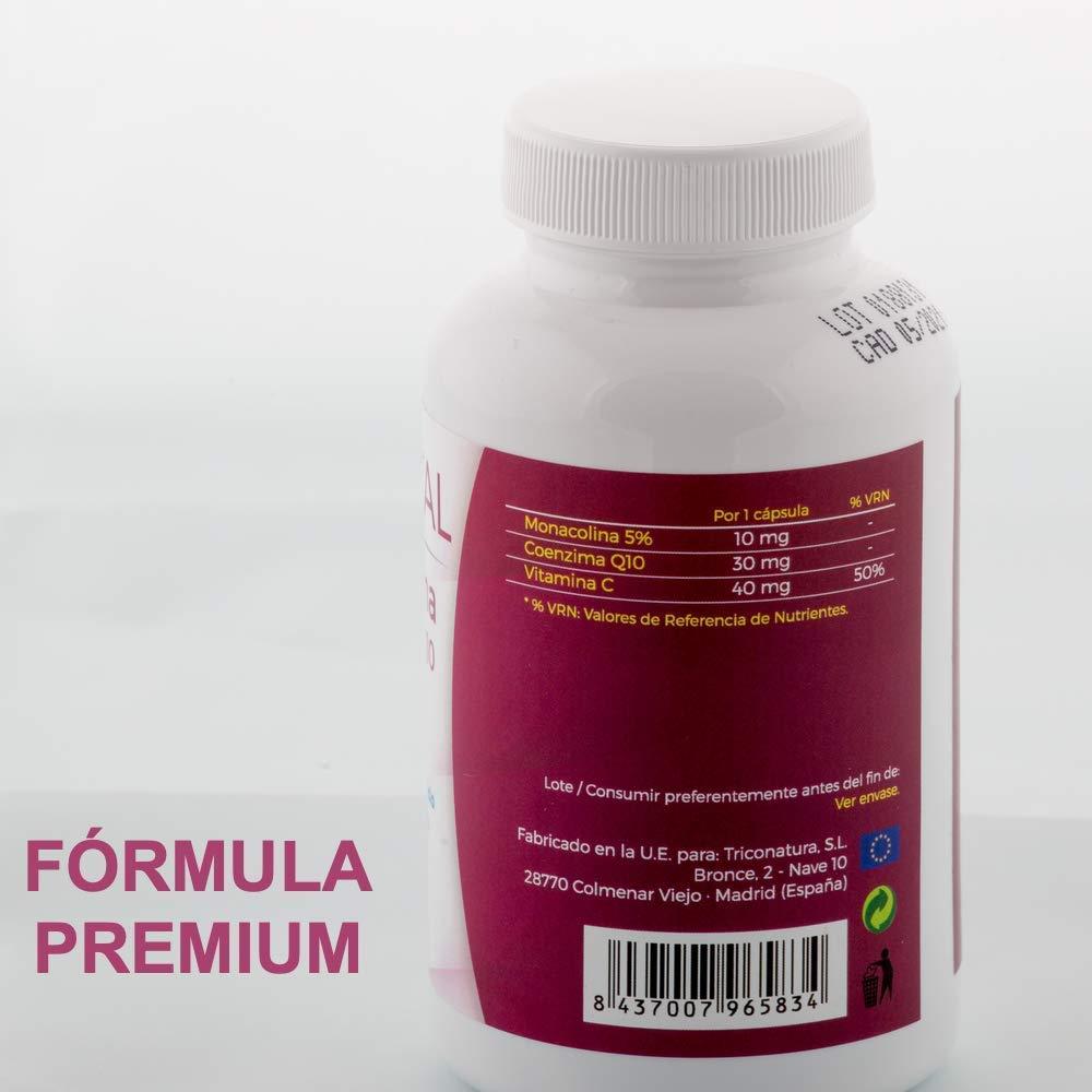 Levadura de Arroz Rojo con Coenzima Q10 pon fin al Colesterol Monacolina Q10 Dosis en Capsulas Concentrada Tratamiento 3 Meses: Amazon.es: Salud y cuidado ...