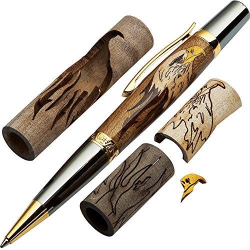 Woodturner ins Bald Eagle Laser Cut Inlay Pen Kit Blank