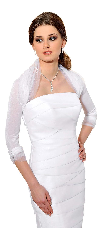 Bolero de novia con las mangas de 3/4 en Tul