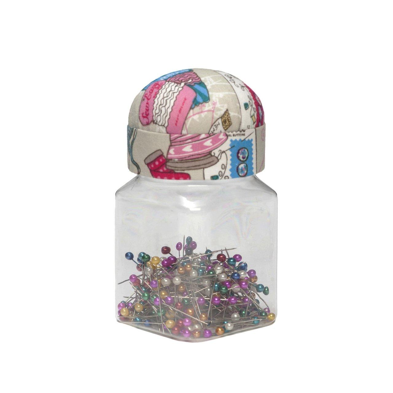 HobbyGift TK16/120 | Pin Cushion Jar Lid: (Pins): Notions Groves