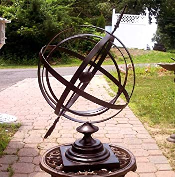 Large 24u0026quot; Iron Arrow Armillary Sphere