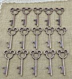40pcs Antique Skeleton Key Bottle Openers Copper Wedding Favor Bridal Shower Gift Steampunk Decoration Birthday Party Stocking Stuffers