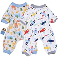 2-Pack Dog Clothes Dogs Cats Onesie Soft Dog Pajamas Cotton Puppy Rompers Pet Jumpsuits Cozy Bodysuits for Small Dogs…