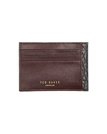7c79fafbc Ted Baker - Business card holder - Men - Leather Card Wallet for men - TU   Amazon.co.uk  Clothing