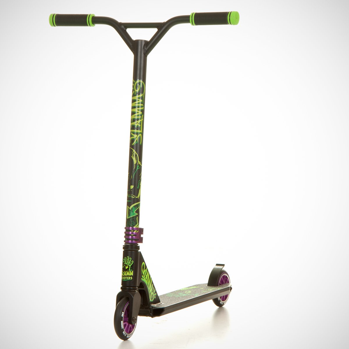 Slamm - Patinete Mischief II Rebel Verde Negro SL425: Amazon ...