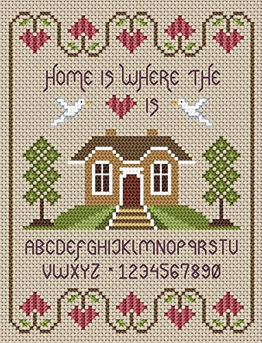 Little Dove Designs Home Is Where The Heart Is Cross Stitch -