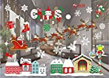 Clearance!! ZOMUSA Festival Christmas Glass Wall Decoration Removable Wall Sticker Christmas Tree Gifts Socks Santa Claus Print Wall Decals (I)