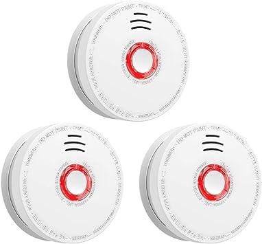 SITERWELL Photoelectric Sensor Smoke Alarm 10 Years Smoke Detector /& Fire Alarm