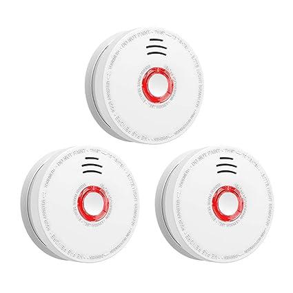 Amazon.com: 3 unidades de alarma de humo y fuego, funciona ...