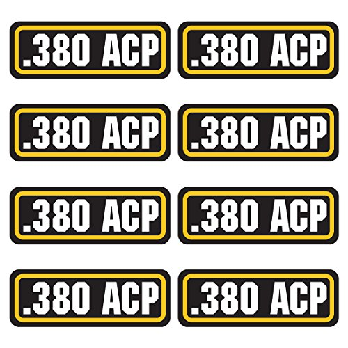380 ACP ammo sticker 8 PACK - LAMINATED Can Box Vinyl Decal bullet ARMY Gun safety Hunting (Laminated House)