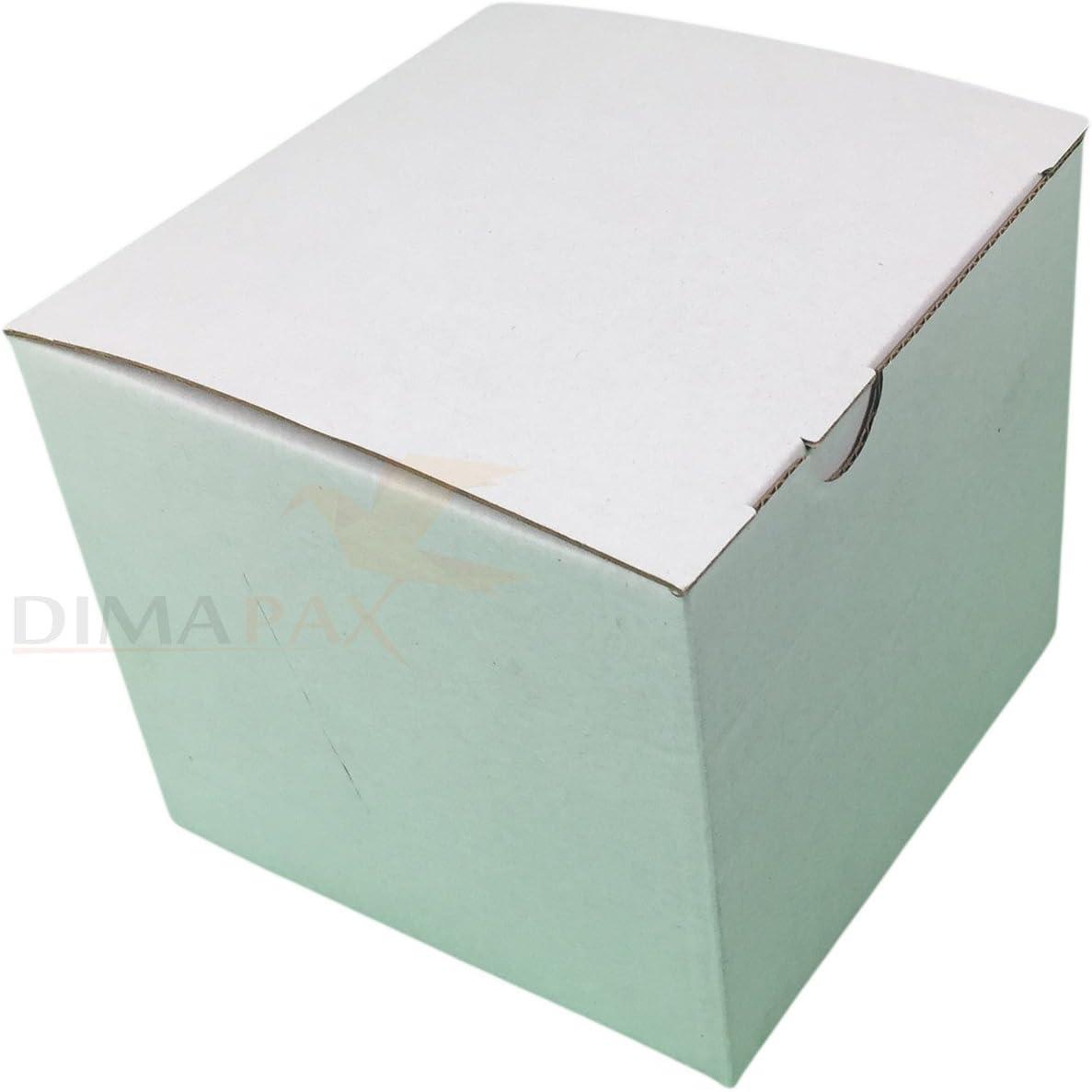 200 Cajas 120 x 120 x 110 mm Automático Plegable Caja de cartón Cardboard Box Blanco dimapax: Amazon.es: Oficina y papelería